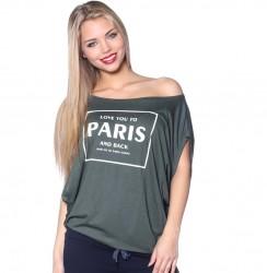 Asymetrické tričko PARIS khaki
