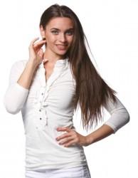 Dlhé tričko s volánikom biela