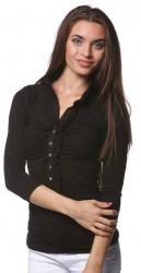 Dlhé tričko s volánikom Čierna
