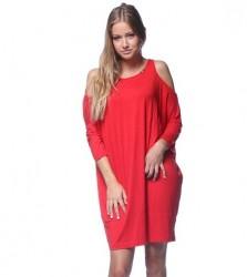 Extravagantné šaty Červená