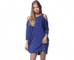 Extravagantné šaty modrá