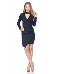 Mini šaty s dlhým rukávom Čierna