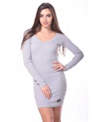 Mini šaty s logom VM sivá