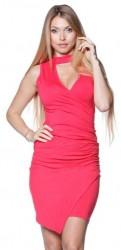 Mini šaty s V výstrihom pink