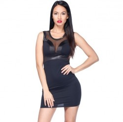 Mini šaty VM Čierna