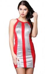 Pôvabné mini šaty Červená
