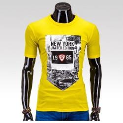 Pánske tričko New York Žltá