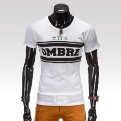 Pánske tričko Ombre biela