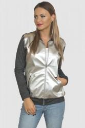 Prechodná bunda sivá