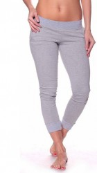 Športové nohavice so zipsom sivá