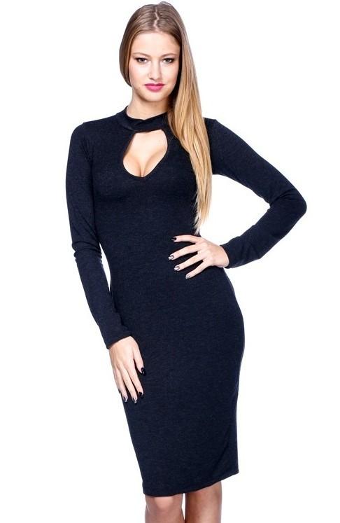 44fbba6cecf0 Elegantné šaty Čierna - Dámske elegantné šaty - Locca.sk