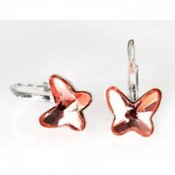 Náušnice motýliky 10 mm – farba ROSE PEACH For You Nau-motylb-002