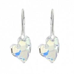 Náušnice swarovski srdce – Crystal AB For You Nau-srdce2-001