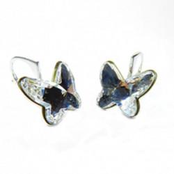 Náušnice motýliky 12 mm – farba Crystal For You Nau-motyl-003