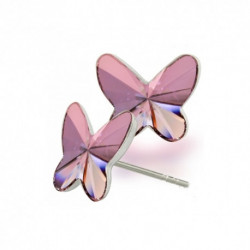Náušnice motýliky 12 mm – farba ANTIQPINK – napichovačky For You Nau-motyl-014