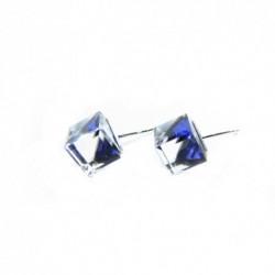 Náušnice swarovski Cube 8 mm vo farbe BERMUDE BLUE – napichovačky For You Nau-kocka-002b