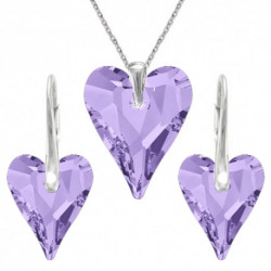 Set srdce swarovski CRAZY – TANZANITE For You Set-srdcrazy-004