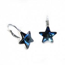 Náušnice krásne hviezdy 10 mm – farba Bermuda Blue For You Nau-hviezdy-001