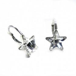 Náušnice krásne hviezdy 10 mm – farba Crystal For You Nau-hviezdy-002