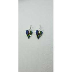 Čarokrásne náušnice Swarovski srdce vo farbe vitrail medium For You Nau-srd-990