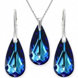 Elegantný set slzy BERMUDE BLUE For You Set-slzy-003