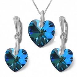 Nádherný set srdce BERMUDE BLUE For You Set-srdce-006