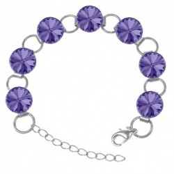 Náramok Swarovski 12mm rivoli – TANZANITE For You Nar-riv-10-12