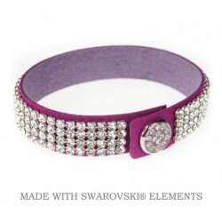 Náramok swarovski FUCHSIA & CRYSTAL For You Nar-003