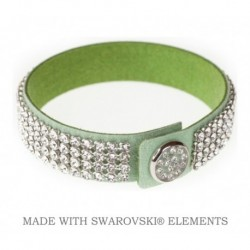 Náramok swarovski GREEN & CRYSTAL For You Nar-004