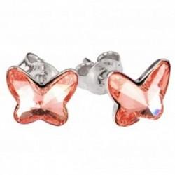 Náušnice motýliky 10 mm – farba ROSE PEACH – napichovačky For You Nau-motylb-008