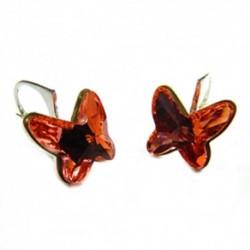 Náušnice motýliky 12 mm – farba ROSE PEACH For You Nau-motyl-002