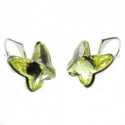 Náušnice motýliky 12 mm – farba ŽLTE For You Nau-motyl-004