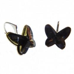 Náušnice motýliky 12 mm – farba SILVERNIGHT For You Nau-motyl-006