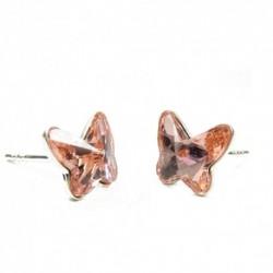 Náušnice motýliky 12 mm – farba ROSE PEACH – napichovačky For You Nau-motyl-008