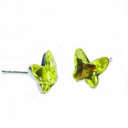 Náušnice motýliky 12 mm – farba ŽLTE – napichovačky For You Nau-motyl-010