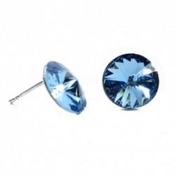 Náušnice rivoli 12 mm vo farbe AQUAMARINE – napichovačky For You Nau-rivoli12-023