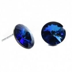 Náušnice rivoli 12 mm vo farbe BERMUDA BLUE – napichovačky For You Nau-rivoli12-024