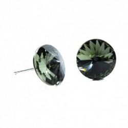 Náušnice rivoli 12 mm vo farbe BLACK DIAMOND – napichovačky For You Nau-rivoli12-025