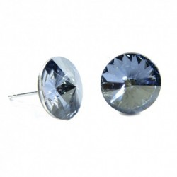 Náušnice rivoli 12 mm vo farbe BLUE SHADE – napichovačky For You Nau-rivoli12-026