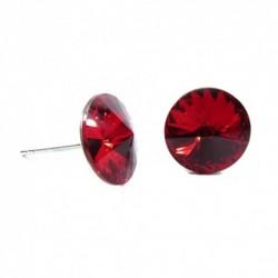 Náušnice rivoli 12 mm vo farbe LIGHT SIAM – napichovačky For You Nau-rivoli12-033