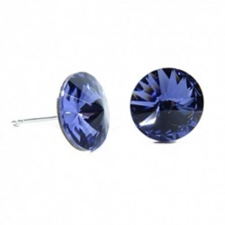 Náušnice rivoli 12 mm vo farbe TANZANITE – napichovačky For You Nau-rivoli12-036