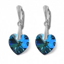 Náušnice srdce 14,4x14 mm BERMUDE BLUE For You Nau-srdce-006