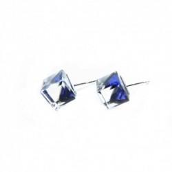 Náušnice swarovski Cube 6 mm vo farbe BERMUDA BLUE – napichovačky For You Nau-kocka-024