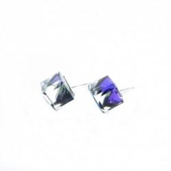 Náušnice swarovski Cube 6 mm vo farbe HELIO – napichovačky For You Nau-kocka-031
