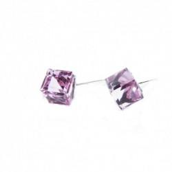 Náušnice swarovski Cube 6 mm vo farbe LIGHT ROSE – napichovačky For You Nau-kocka-026