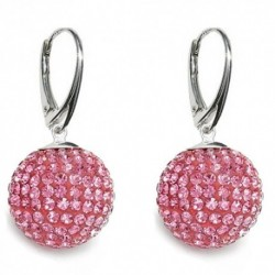 Náušnice Swarovski Discoball 14 mm – Light Rose For You Nau-disco-2
