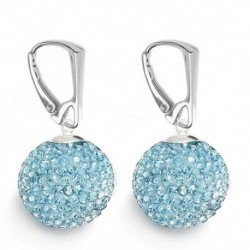 Náušnice Swarovski Discoball 18 mm – AQUAMARINE For You Nau-disco-10