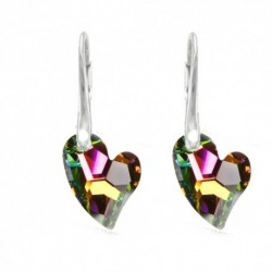 Náušnice swarovski srdce – Crystal VM For You Nau-srdce2-003