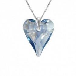 Prívesok srdce swarovski CRAZY – BLUE SHADE For You Pri-srdcrazy-001