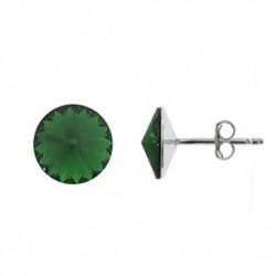 Rivoli 8 mm vo farbe DARK MOSS GREEN – napichovačky For You Nau-rivoli8-029